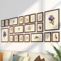 Wand Bilderrahmen aus Holz 20er - Set Minimalismus