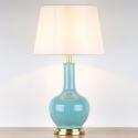 Feine Tischleuchte Keramikfuß Vase Form für Wohnzimmer