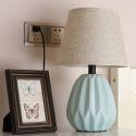 Minimalismus Tischleuchte Keramikfuß Macaron Fabre für Schlafzimmer