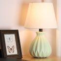 Keramik Tischleuchte Macaron Fabre für Schlafzimmer