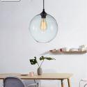 Glas Pendelleuchte Modern in Blase Design 1 flammig