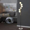 Moderne Stehleuchte Glas Kugel Design 6 flammig für Wohnzimmer