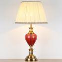 Keramik Tischleuchte mit Lampenschirm aus Stoff Moderne Stil