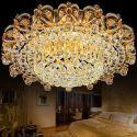 LED Deckenleuchte Kristall Rund für Wohnzimmer Luxus Stil
