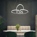 Led Hängeleuchte Modern Floral Design aus Acryl für Wohnzimmer