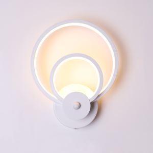 Led Wandleuchte Modern Ring Design aus Acryl in Weiß