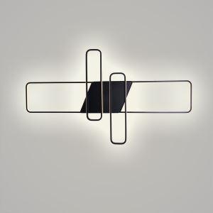 Led Deckenleuchte Geometrisch Eckig Design in Schwarz/Weiß