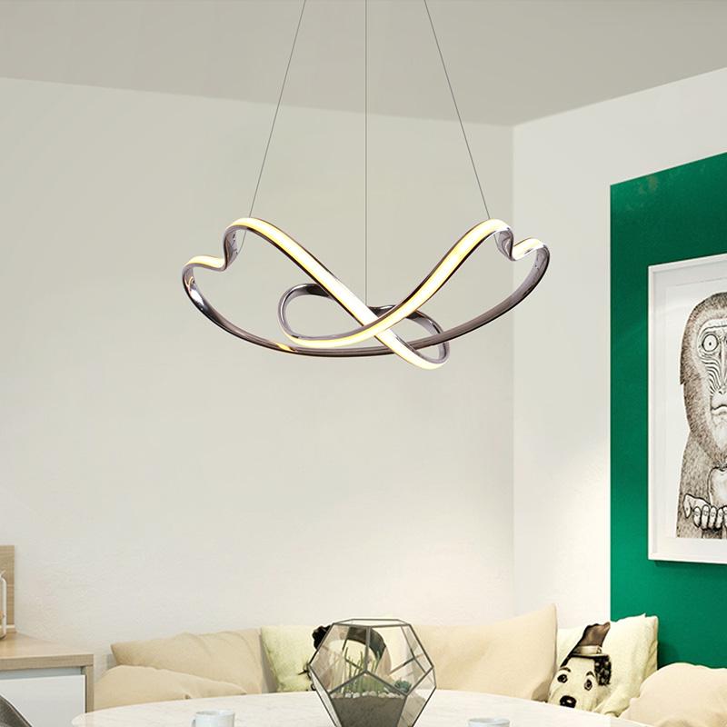 Pendelleuchte Led Herz Design Aus Aluminium Fur Schlafzimmer