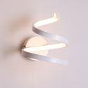 Led Wandleuchte Modern Spiral Design aus Acryl in Weiß