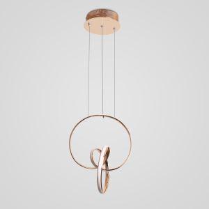Led Pendelleuchte Ring Design aus Acryl für Wohnzimmer