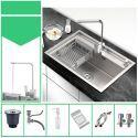 Einzelbecken Küchenspüle aus Edelstahl in Nickel Gebürstet 60cm x45cm