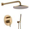 Duscharmatur Unterputz mit Handbrause Gold oder Schwarz