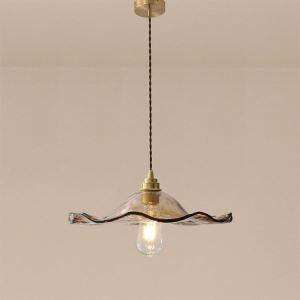 Pendelleuchte Glas Lotusblatt Design 1 flammig für Esszimmer