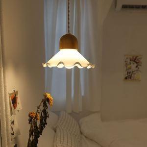 Pendelleuchte Glas Floral Design 1 flammig für Schlafzimmer