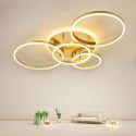 Led Deckenleuchte Modern Ring Design aus Aluminium in Gold für Wohnzimmer