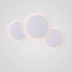 Led Wandleuchte mit 5 Kreise in Weiß