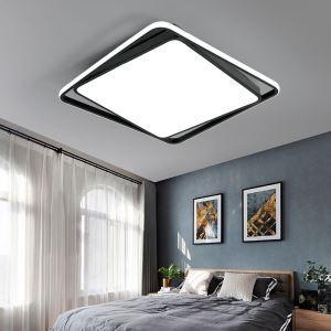 Moderne Deckenlampe Led Eckiges Design in Schwarz