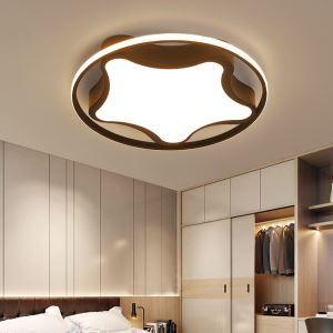 Led Deckenleuchte Seesterne Design in Schwarz / Weiß für Schlafzimmer