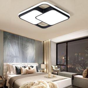 Led Deckenleuchte Eckiges Design in Schwarz / Weiß aus Acryl