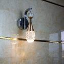 Led Wandleuchte Kristall Tropfen Design für Schlafzimmer