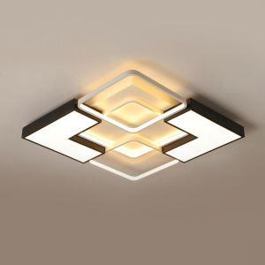 Led Deckenlampe Modern Geometrisches Design in Weiß und Schwarz
