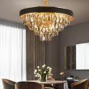 Kunstvolle Pendelleuchte Modern Rundes Design aus Glas Eisen für Wohnzimmer