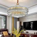 Led Hängeleuchte Modern Rundes Design aus Glas Eisen für Schlafzimmer