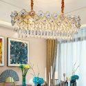 Moderne Hängeleuchte aus Glas Eisen Blume Design 10 flammig