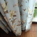 Vorhang Landhaus Stil Lilien Muster für Wohnzimmer 40-60% Blickdicht (1er Pack)
