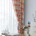 Vorhang Modern Geometisches Design aus Polyester für Schlafzimmer 50-70% Blickdicht (1er Pack)