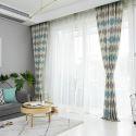 Moderner Vorhang Raute Muster für Wohnzimmer 40-60% Blickdicht (1er Pack)