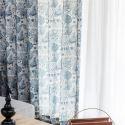 Gardine Landhaus Stil für Wohnzimmer 40-60% Blickdicht (1er Pack)