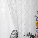Moderne Gardine Transparent Geometrisches Muster für Schlafzimmer (1er Pack)