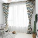 Moderne Gardine Welle Muster aus Polyester für Wohnzimmer 40-60% Blickdicht (1er Pack)