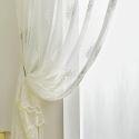Transparente Gardine Floral Muster für Schlafzimmer (1er Pack)