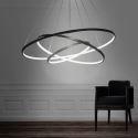 Led Pendelleuchte Modern Ring Design aus Aluminium 80+60+40cm