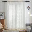 Moderne Gardine Transparent Blätter Muster für Schlafzimmer (1er Pack)