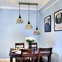 Tiffany Hängeleuchte Glas Blume Design 3 flammig für Esszimmer