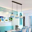 Anmutige Hängeleuchte Tiffany Stil aus Glas 3 flammig für Esszimmer