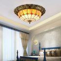 Tiffany Deckenleuchte aus Glas 3/4 flammig für Schlafzimmer