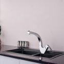 Küchenarmatur Drehbar Einhebel Kurve Design aus Messing