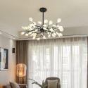 Moderne Pendelleuchte Zweige Design aus Eisen Acryl 45 flammig