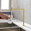 Ein-Weg-Osmose Wasserhahn für Kaltwasser Drehbar in Gold/Schwarz
