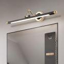 Led Spiegelleuchte Moderne Wandlampe Rundes Design aus Acryl Eisen in Schwarz
