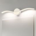 Led Wandleuchte Spiegelleuchte Welle Design aus Acryl in Weiß/Schwarz