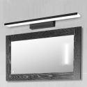 Led Spiegelleuchte Wandlampe aus Acryl in Schwarz/Gold/Weiß für Flur