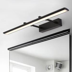 Moderne Wandlampe Led Spiegelleuchte aus Acryl in Schwarz/Chrom