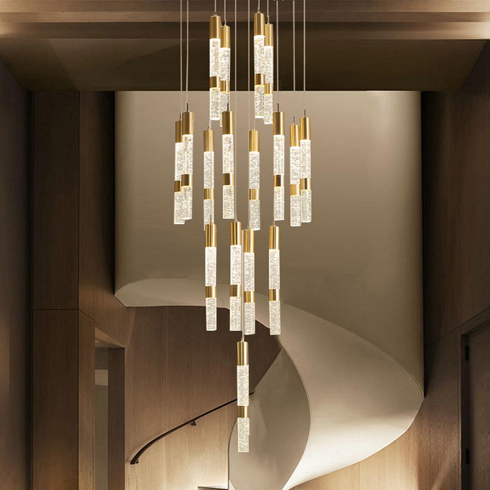 Led Pendelleuchte Modern Kristall Säule Design für Wohnzimmer