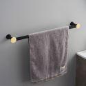 Handtuchstange aus Messing in Schwarz/Gold für Badezimmer