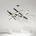 Led Pendelleuchte aus Aluminium Nest Design in Schwarz